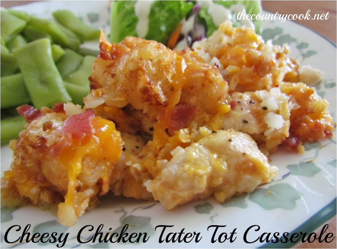 Crock Pot Cheesy Chicken, Bacon, & Tater Tot Bake is a delicious and super easy meal to put together. Your whole family will love it! CROCK POT CHEESY CHICKEN, BACON & TATER TOT .
