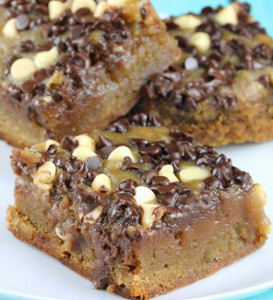 Chocolate Chip Blondie Squares