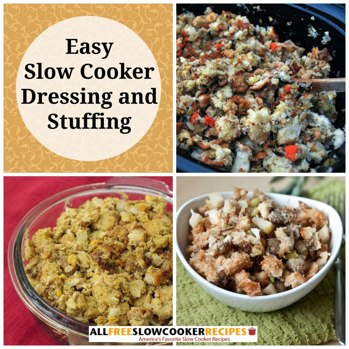 Slow Cooker Dressing and Stuffing: 22 Easy Slow Cooker Stuffing or ...
