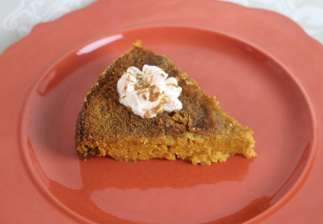 Upside Down Pumpkin Pie